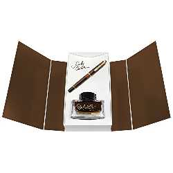 Imagen de Pelikan Fine de Writing Pelikan 805063 Special Edition pluma estilográfica de émbolo M200 Smoky Quartz, plumín F, Set de regalo con piedras preciosas Ink of the year 2017 Smoky Quartz