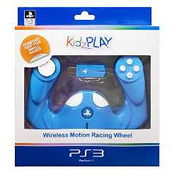 Comprar en oferta 4Gamers PS3 KidzPLAY Wireless Motion Racing Wheel (azul)
